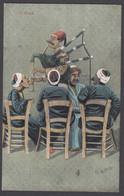Egypt - L'Ouie - Colour Postcard Illustrated By E. B. Norton - Bagpipe / Cornemuse - Persone