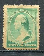 E-U 1887 Yv. N° 64 , SCOTT N° 213   (o)  2c Jackson Vert Brillant  Cot 35 Euro D 2 Scans - Unused Stamps