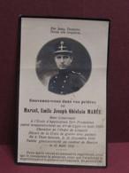 DOODSPRENTJE  Souvenez-vous Dans Vos Priéres Marcel Emile Joseph Ghislain MAREE  Sous-Lieutenant - Obituary Notices
