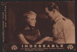 Original 1932 A Passport To Hell Cinema / Movie Advt Brochure - Elissa Landi, Paul Lukas, Warner Oland. - Cinema Advertisement