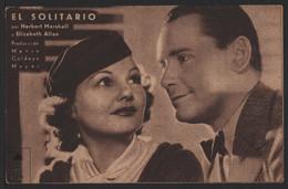 Original 1933 The Solitarire Man Cinema / Movie Advt Brochure - Herbert Marshall, Elisabeth Allan. - Cinema Advertisement