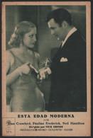 Original 1931 This Modern Age Cinema / Movie Advt Brochure - Joan Crawford, Pauline Frederick, Neil Hamilton. - Cinema Advertisement