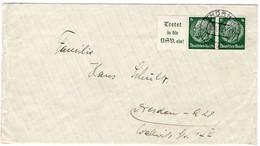 Brief Deutsches Reich Aus Thorn Mit Zusammendruck - Sin Clasificación