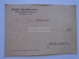 D182138  Hungary  Postcard  - Magyar Dolgozók Pártja  1948  Meeting Invitation  MDP - Political Parties & Elections