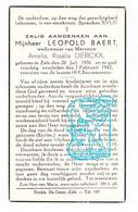 DP Leopold Baert ° Zele 1856 † 1942 X Amelia Dierickx - Santini
