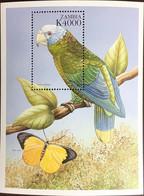 Zambia 2000 Parrot Birds Butterflies Minisheet MNH - Unclassified