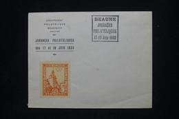 FRANCE - Vignette De L'Exposition Philatélique De Beaune Sur Enveloppe En 1933 - L 101758 - Briefe U. Dokumente