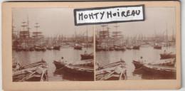 V . P : Plaque Photo Sur Carton: Env.  1898 :  Le  Vieux  Port à Marseille - Non Classés