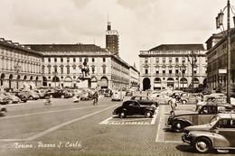 Cartolina - Torino - Piazza S. Carlo - 1958 - Sin Clasificación