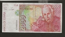 Espagne / Billet De 2000 Dos Mil Pesetas 1992  Jose Celestino Mutis - [ 4] 1975-… : Juan Carlos I