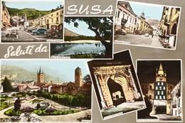 Cartolina - Saluti Da Susa ( Torino ) - Vedute Diverse - 1963 - Sin Clasificación