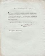 1793 VIENNE - Circulaire Du Procureur-Syndic Prévenant Que LA FÊTE DE LA FEDERATION Sera Faite Le 10 Août - Historical Documents