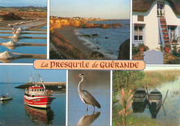 CPSM La Presqu'ile De Guérande-Multivues-Beau Timbre   L769 - Guérande