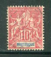 MARTINIQUE- Y&T N°45- Oblitéré - Used Stamps