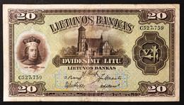 Lituania  Lietuvos  1930 20 Litu Pick#27 Lotto.559 - Lituanie