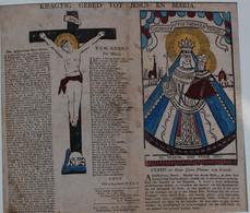 PELLERIN  KRAGTIG GEBED TOT JESUS EN MARIA  39X33  Cm - Voir Images  Les Impressions Sont Protégées Dans Un Passe-partou - Imágenes Religiosas