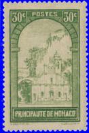 Monaco 1933. ~ YT 122** - 30 C. Ravin Et Eglise - Unused Stamps