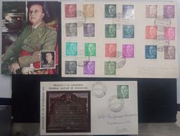 ESPAÑA.  LOTE DE 2 SOBRES Y UNA TARJETA. - 1951-60 Ungebraucht