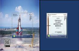 Aitutaki 2021, The Best Of The Smithsonian  Space Museum, Rocket, 2Blocks - Aitutaki