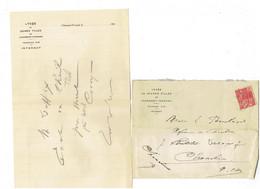 Courrier Correspondance Lycée De Jeunes Filles De CLERMONT-FERRAND - 1931 + Enveloppe - Seals Of Generality
