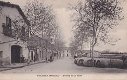 V24-34) PAULHAN  (HERAULT) AVENUE DE LA GARE - ( ANIMEE - HABITANTS - 2 SCANS ) - Paulhan