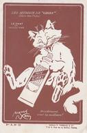 V30- PUBLICITE  GIBBS - LES ANIMAUX  PAR JACQUES NAM - LE CHAT- N° 12 - (SERIE LES CHATS ) - ( 2 SCANS ) - Publicidad
