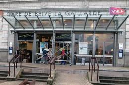 - 19 - Brive La Gaillarde (19)) -  3 CPM - Gare SNCF - Laveur De Vitre - 6876 - Brive La Gaillarde