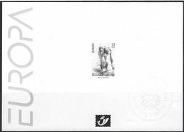 Feuillet Noir & Blanc  Europa 2001 - Zwarte/witte Blaadjes