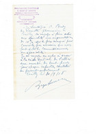 Correspondance Cachet Pharmacie Centrale O. BRODY DE LAMOTTE - Cérilly Allier - 1918 - Seals Of Generality