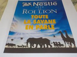 ANCIENNE PUBLICITE LE ROI LION ET NESTLE 1994 - Posters
