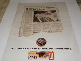 ANCIENNE PUBLICITE PIM S EST FRAIS DE LU 1994 - Posters