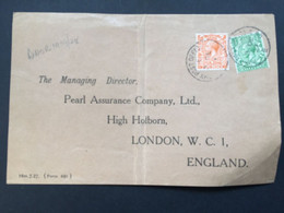 GB George V Front Of Cover 1927 With Army Post Office E Postmarks - Covers & Documents
