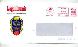 Lettre Flamme Ema Appoigny Medaille D'or Poulet Fermier - Affrancature Meccaniche Rosse (EMA)