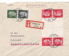 Toller R - Brief Deutsches Reich Dresden Mit Zusammendruck - Sin Clasificación