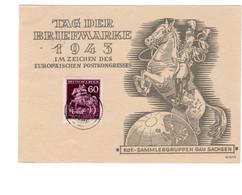 Postkarte Ganzsache Deutsches Reich Propaganda Gau Sachsen - Sin Clasificación