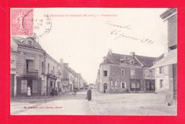 F-49-Vernantes-02A88  Environs De Saumur, Une Rue De Vernantes, Hôtel, Cpa BE - Autres Communes