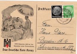 Propaganda Postkarte Deutsches Reich Das Deutsche Rote Kreuz - Sin Clasificación