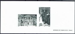 2005 Gravure UNESCO  Sur Papier Velin  - Bison De La Foret / Monument De DEIR à PETRA - Documents Of Postal Services