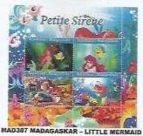 MADAGASCAR - 2021 - Little Mermaid - Perf 4v Sheet  - Mint Never Hinged. - Madagascar (1960-...)