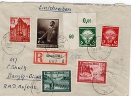 R - Brief Deutsches Reich Mit Sondermarken Dresden Nach Danzig - Sin Clasificación