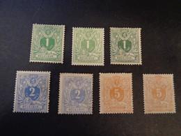26 26a 26b 27 27a 28 28a X MH  Liggende Leeuw - Lion Couche - 28a (x) MH - 1869-1883 Leopold II