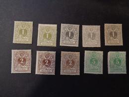 42 42a 43 43a 43b 44 44a 45 45a X MH  Liggende Leeuw - Lion Couche - 1869-1888 Leone Coricato