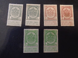 81-83 Kleuren - Couleurs X MH - 1893-1907 Stemmi