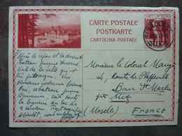 1932  Postkarte  Einsiedeln  20F   TBE - Interi Postali