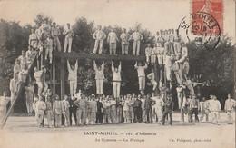 B2- 55 ) SAINT MIHIEL (MEUSE) LE 161° D'INFANTERIE - AU GYMNASE - LE PORTIQUE - (EDITEUR FOLIGUET - TRES ANIMEE) - Saint Mihiel