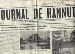 """2 X """"JOURNAL DE HANNUT"""" N° 13 Et 14 De 1936 (avec Décès De L'ancien Bourgmestre Henri HALLET) - Unclassified"""