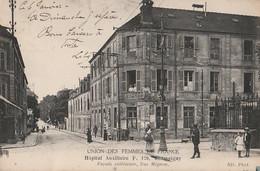 CHAMPIGNY - RUE MIGNON HOPITAL AUXILIAIRE F. 120 UNION DES FEMMES DE FRANC - (ANIMEE - INFIRMIERES - 2 SCANS) - Champigny Sur Marne