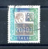 1987 REP. IT. N.1442B 20000 Lire USATO - Hojas Bloque