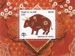 Tonga 2021, Year Of The Ox, Block - Chinese New Year