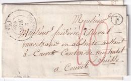 FRANCE 1851 LETTRE DE QUINGEY  AVEC  CORRESPONDANCE - 1801-1848: Precursori XIX